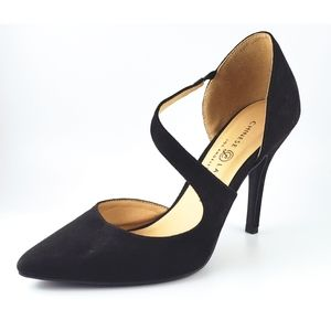 Chinese & Laundry Black Poninted Heels
